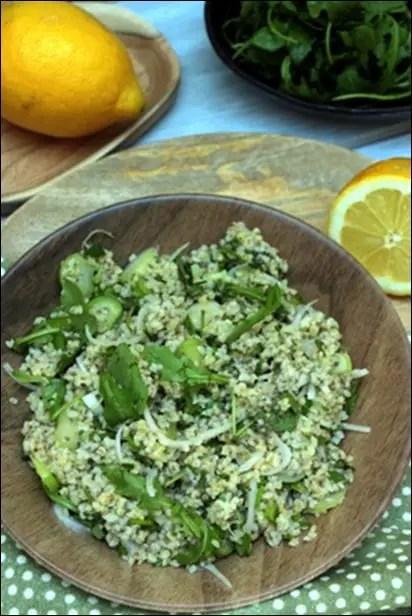 salade boulgour menthe persil