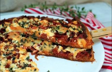 tarte aux tomates confites et à la feta