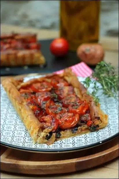 tarte feuilletée tomate cerise