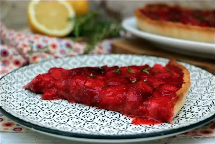 tarte aux fraises roties