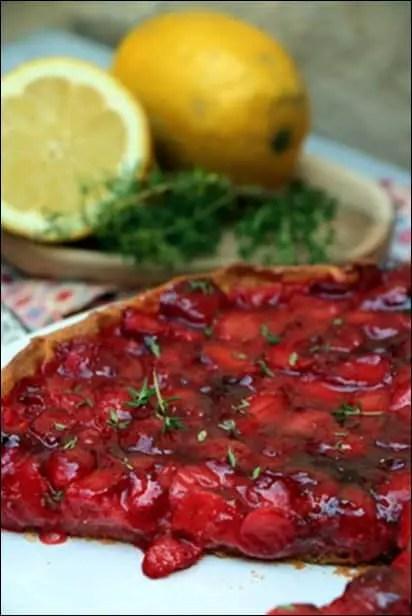 tarte aux fraises et thym