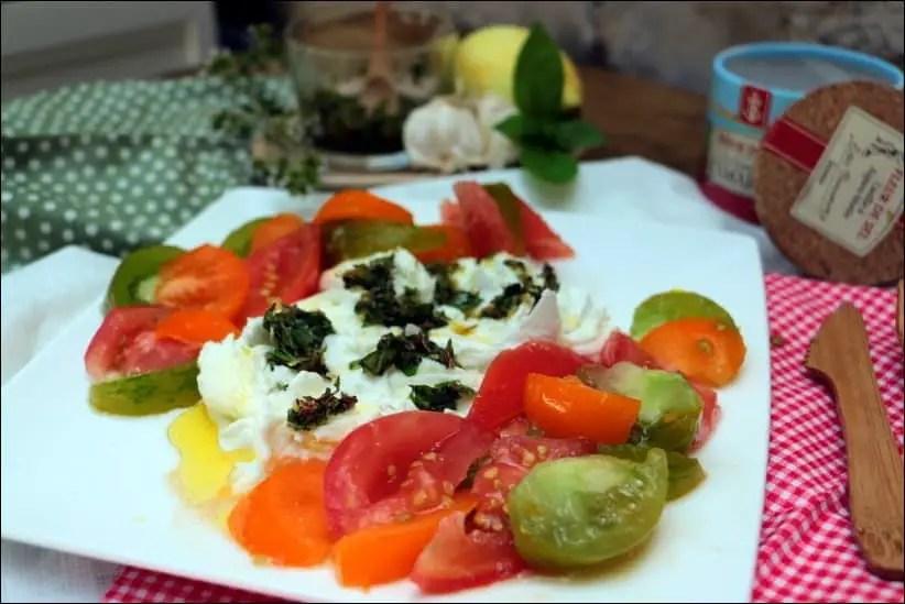 tomate mozzarella revisité