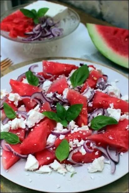 salade grecque pasteque