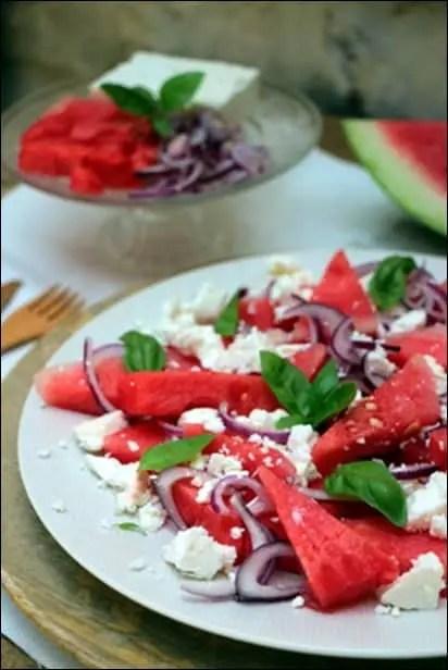 salade pasteque feta basilic