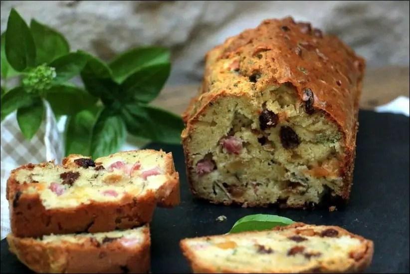 cake chevre basilic jambon
