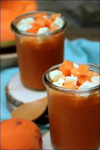 gaspacho melon et abricot