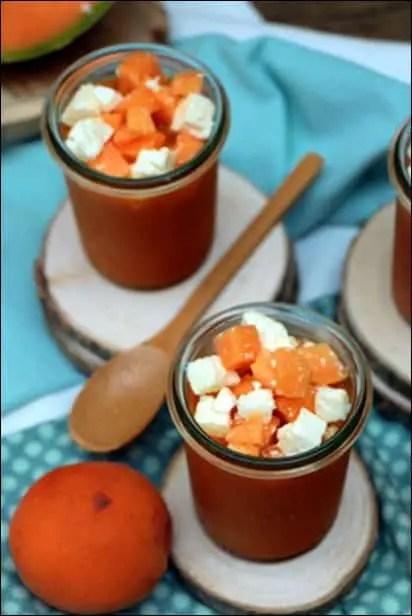 gaspacho melon abricot feta