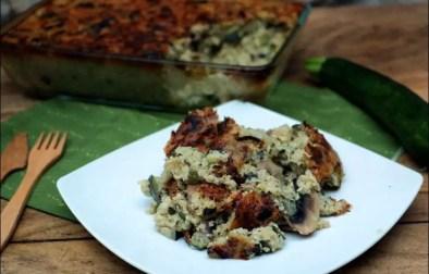 gratin fondant courgettes et quinoa