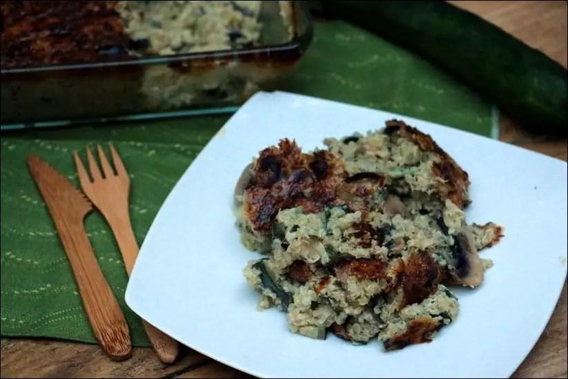 gratin quinoa et courgettes