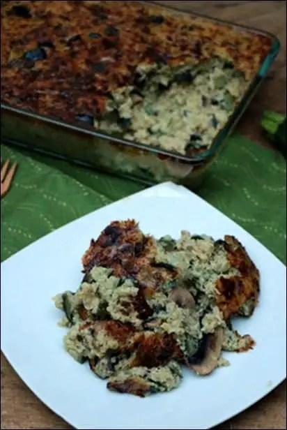 gratin de quinoa vegetarien
