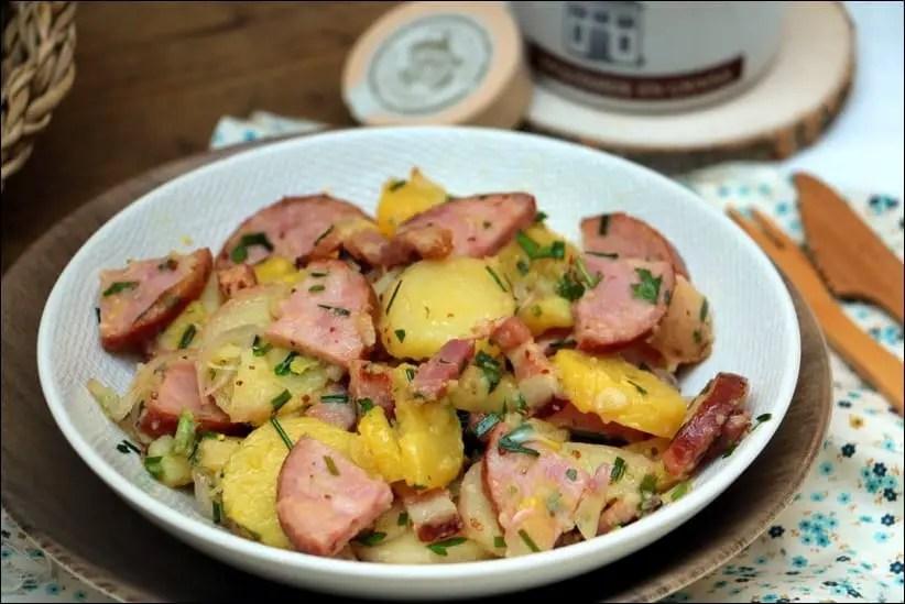 salade pommes de terre morteau