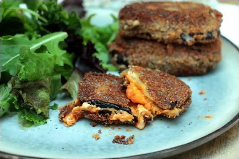 sandwich aubergine tomate mozzarella