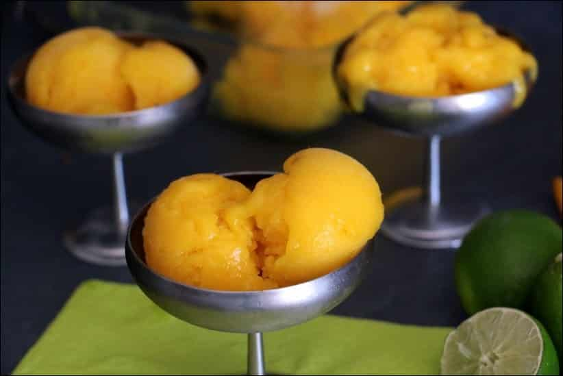 sorbet mangue sans yogourt