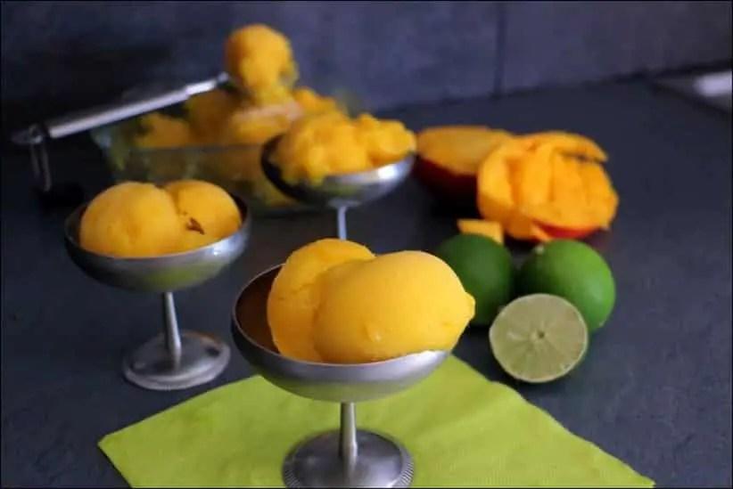 sorbet mangue citron vert