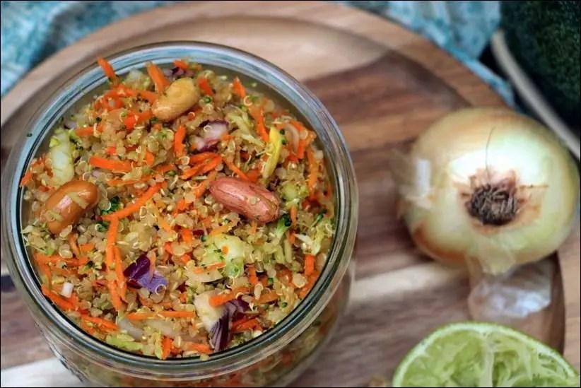 taboulé quinoa carottes brocolis
