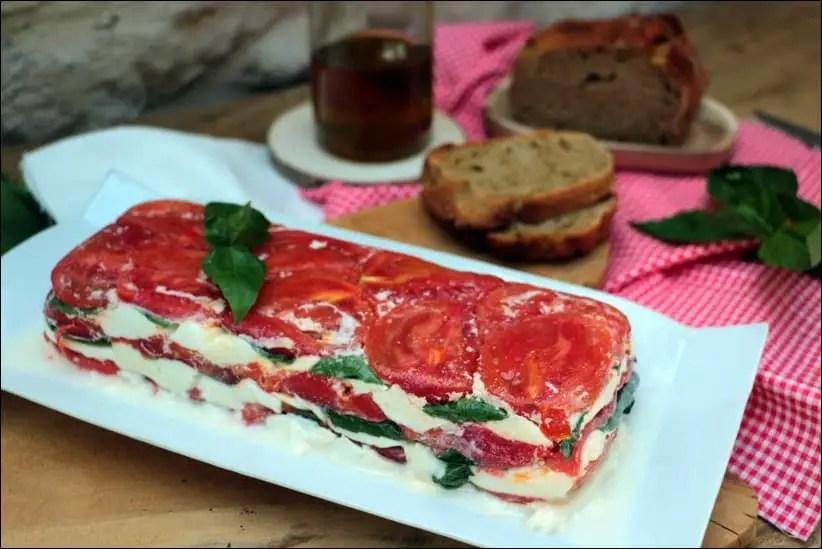 terrine de tomates mozzarella