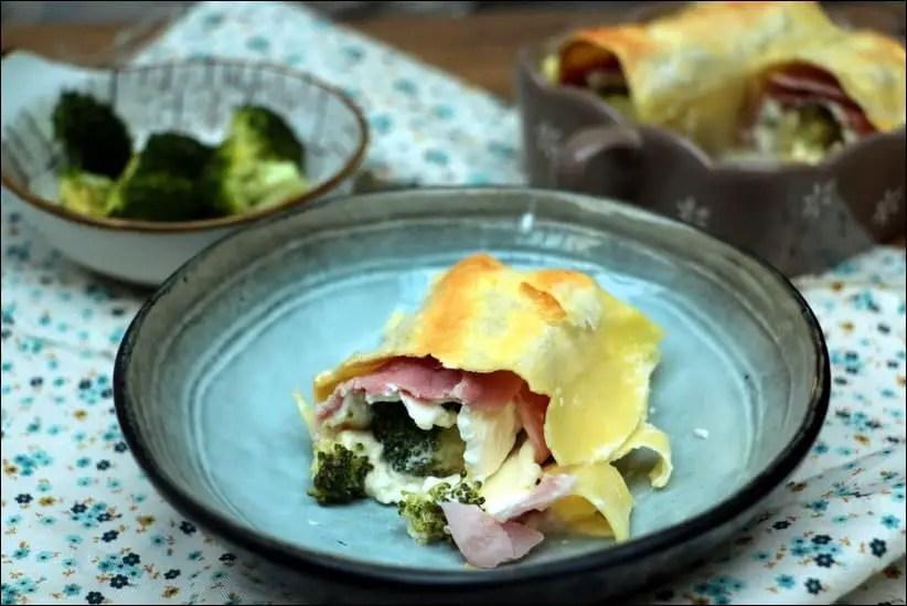 cannelloni au chèvre frais brocoli et jambon