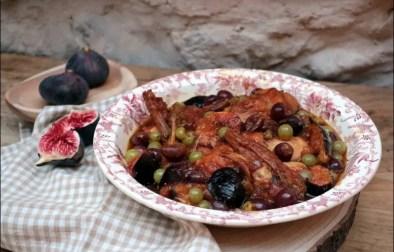 lapin aux figues et aux raisins