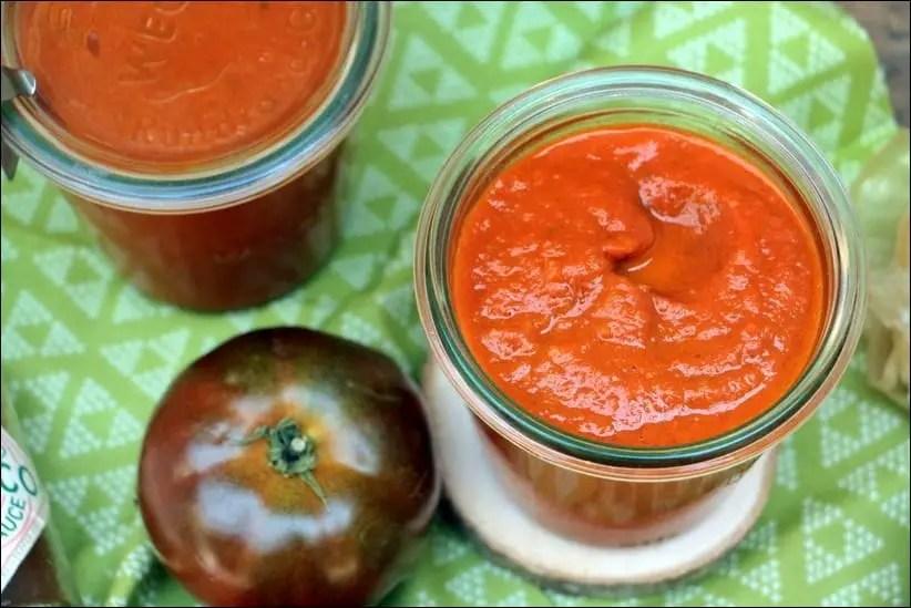 sauce tomate avec tomate fraiche