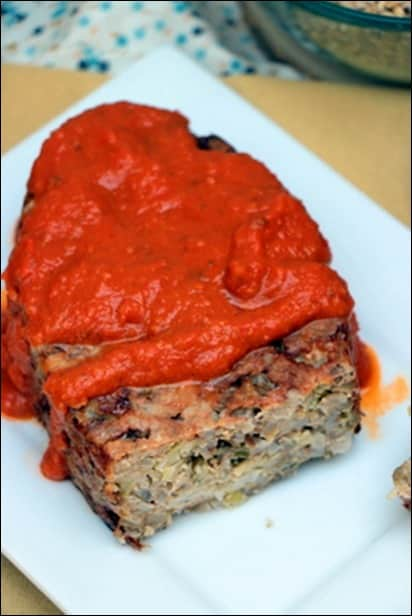 terrine de céréale et sauce tomate