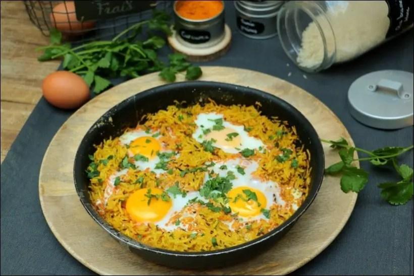 riz epices et oeufs