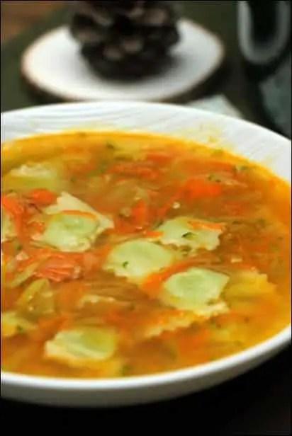 soupe ravioles poireau carottes