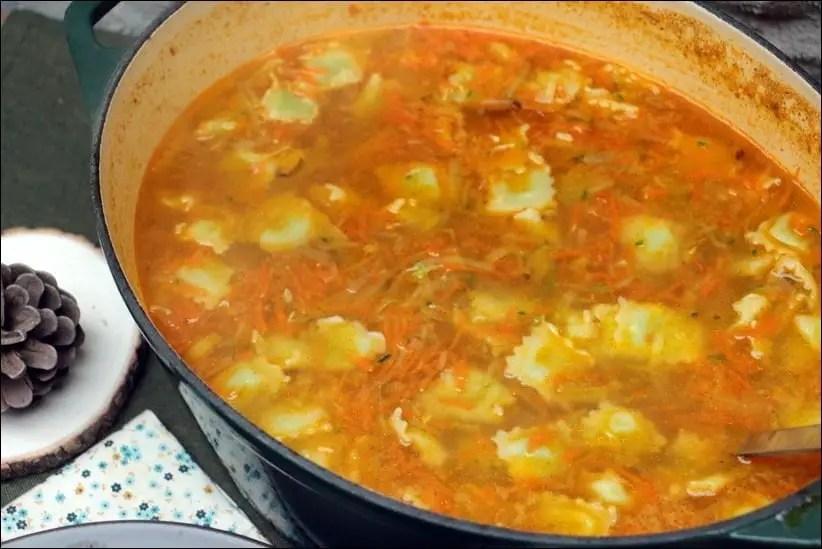 soupe ravioles carottes