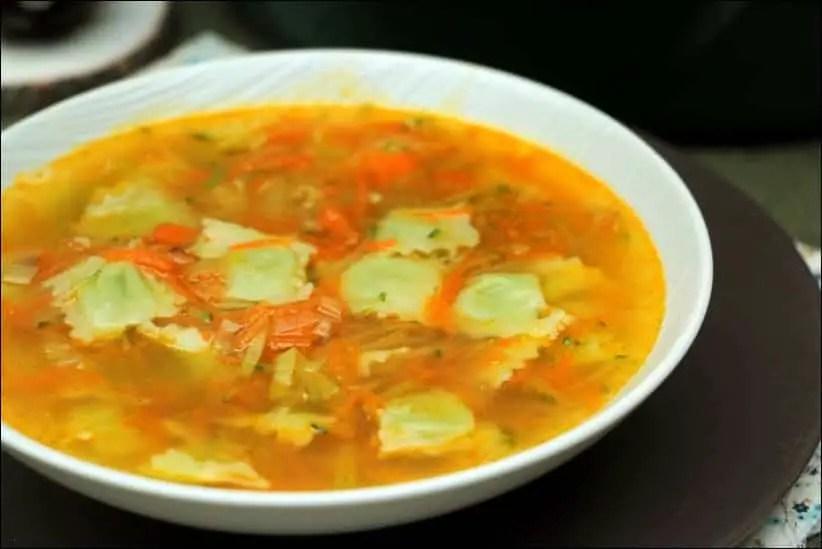 soupe ravioles legumes
