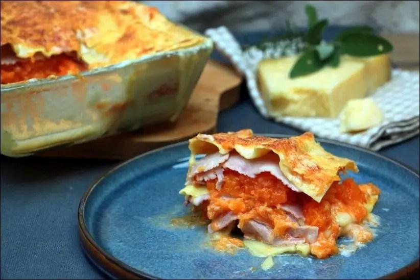 lasagnes courge jambon bechamel