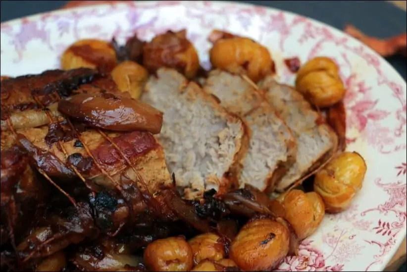 roti de veau aux marrons