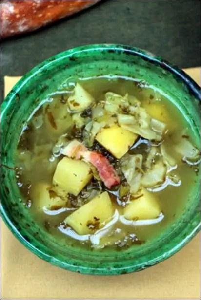 soupe oseille pomme de terre et lardons
