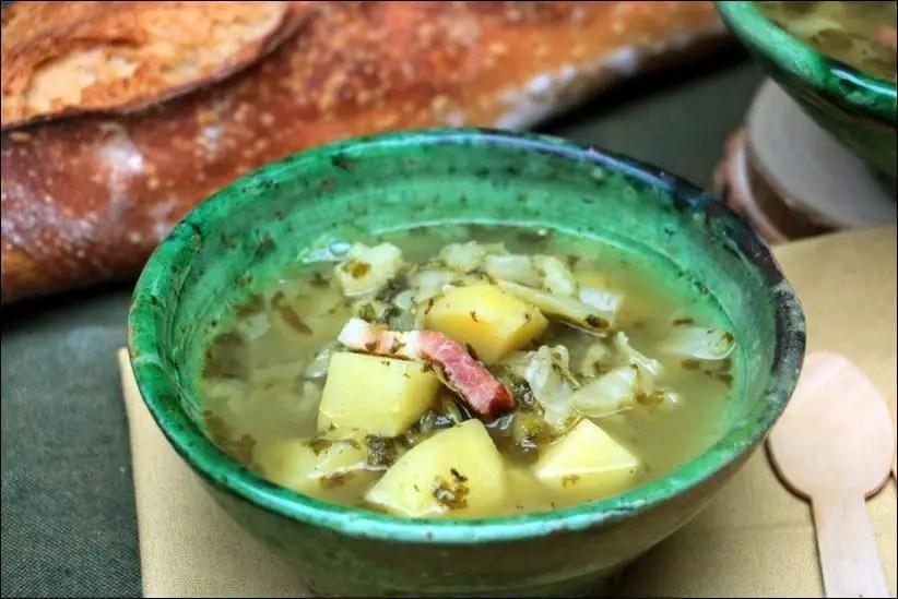 soupe oseille lardons
