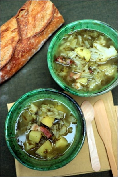 soupe avec oseille surgelée