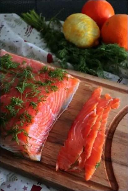 saumon gravlax agrumes aneth