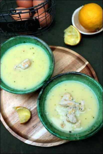 soupe poulet citron