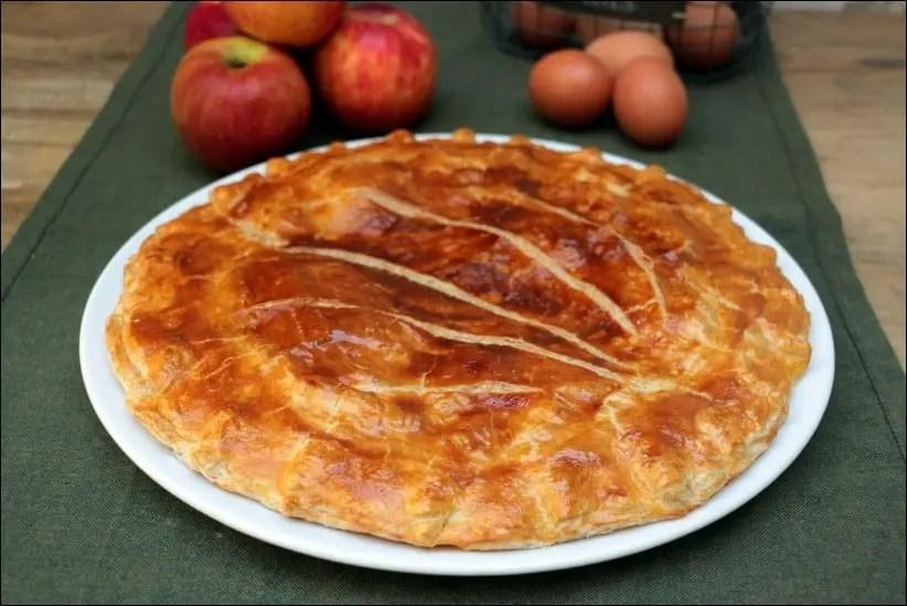 galette des rois a la pomme et frangipane