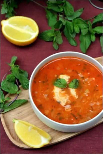 soupe poulet light