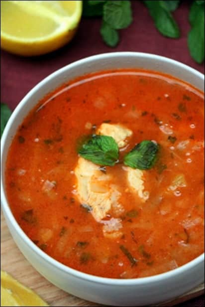 soupe poulet tomate