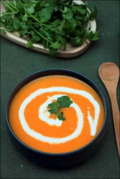 velouté de carottes à la coriandre