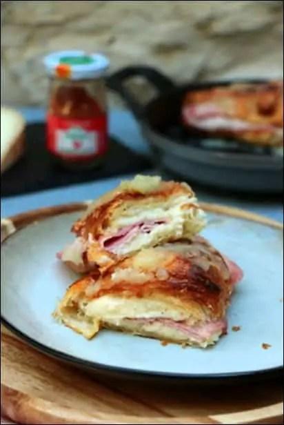 croissant au jambon et au fromage