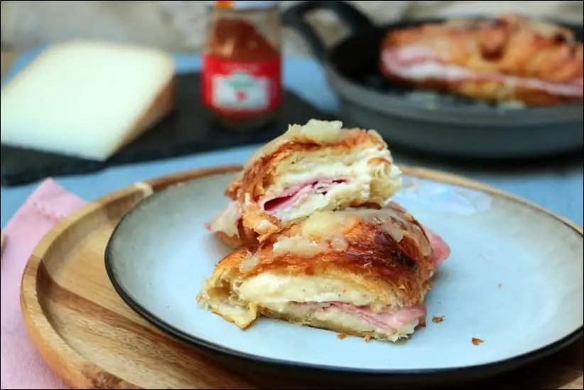 croissant jambon fromage creme fraiche