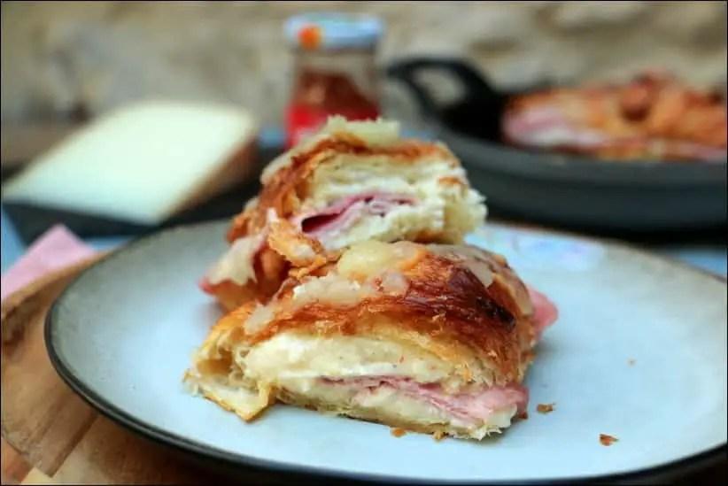 croissants au jambon et fromage de brebis