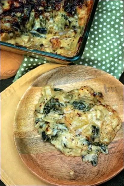 gratin blettes roquefort