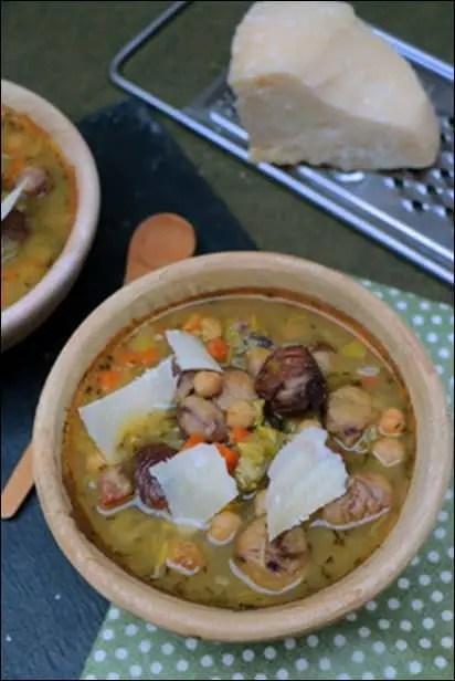 soupe pois chiche marrons