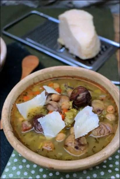 soupe pois chiche chataignes