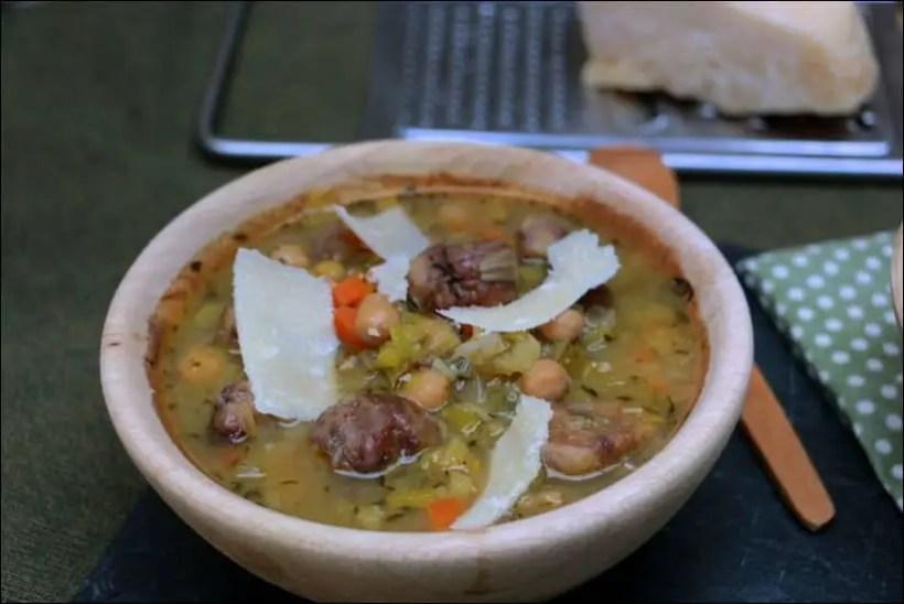 soupe pois chiches poireaux