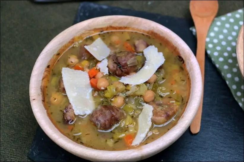 soupe pois chiche vegan