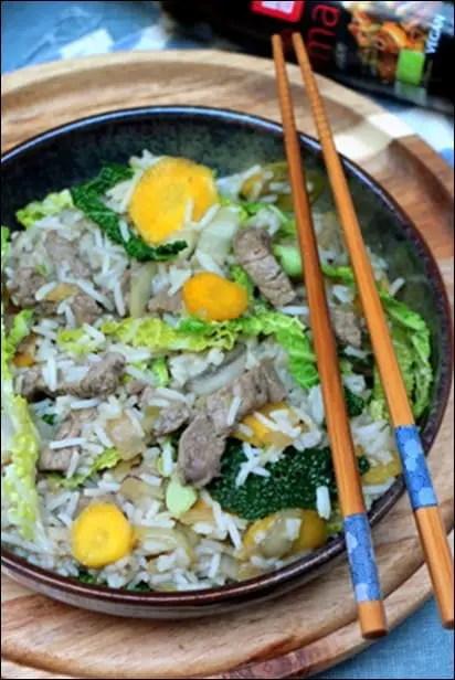 wok boeuf asiatique