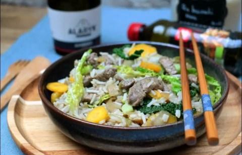 wok de boeuf à la bière et légumes d'hiver