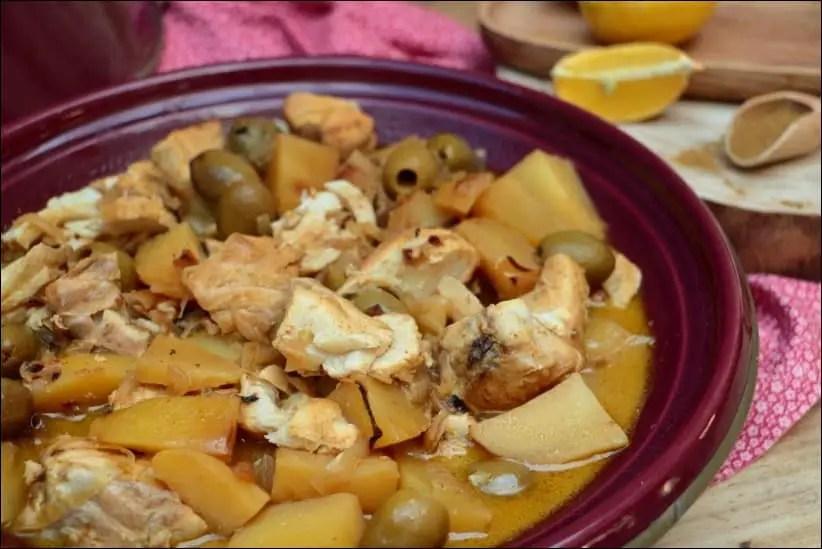 tajine marocain poisson olives